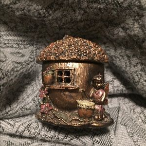 Collectible Fairy Acorn House Trinket Box